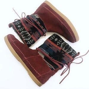 TOMS Aztec Fur Lined Ankle Boots